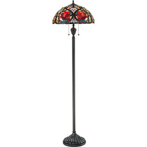 Larissa Vintage Bronze Two-Light Floor Lamp