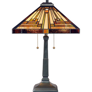 Stephen Vintage Bronze Two-Light Table Lamp
