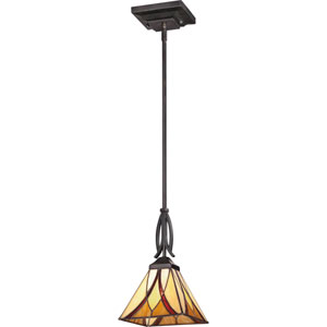 Asheville Valiant Bronze 11.5-Inch One-Light Mini Pendant