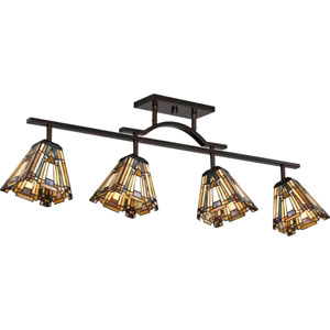 Inglenook Valiant Bronze 42-Inch Four-Light Ceiling Track Fixture