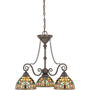 Kami Vintage Bronze Three-Light Chandelier