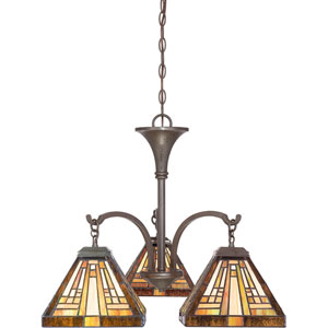 Stephen Vintage Bronze Three-Light Chandelier