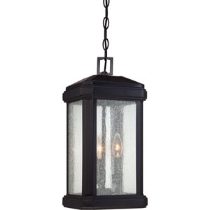 Trumbull Mystic Black 19-Inch Height Three-Light Outdoor Hanging