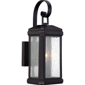 Trumbull Mystic Black One-Light Outdoor Wall Mounted