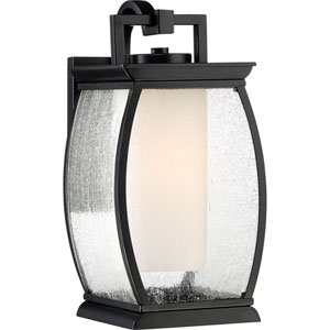 Terrace Mystic Black 7-Inch One-Light Outdoor Wall Lantern