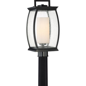 Terrace Mystic Black 9-Inch One-Light Outdoor Post Lantern