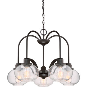 Trilogy Old Bronze 26-Inch Five-Light Chandelier