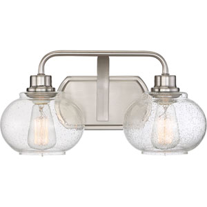Trilogy Brushed Nickel Two-Light Bath Light