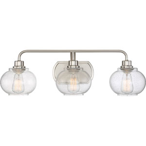 Trilogy Brushed Nickel Three-Light Bath Light