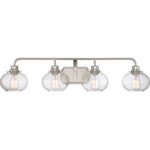 Trilogy Brushed Nickel Four-Light Bath Light