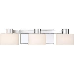 Tatum Polished Chrome 21-Inch Three-Light Bath Light