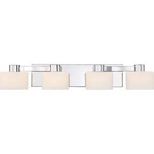 Tatum Polished Chrome 29-Inch Four-Light Bath Light