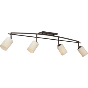 Taylor Western Bronze Four-Light Ceiling Track Lights