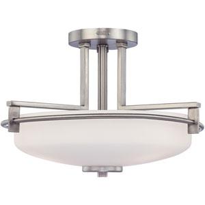 Taylor Antique Nickel Three-Light Semi-Flush