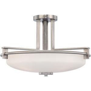 Taylor Antique Nickel Four-Light Semi-Flush