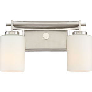 Taylor Brushed Nickel Two-Light Vanity