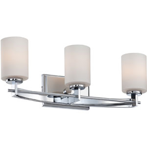 Taylor Polished Chrome Three-Light Bath Fixture