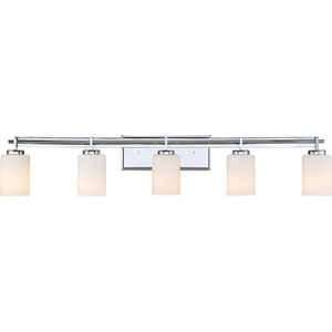 Taylor Polished Chrome Five-Light Bath Light