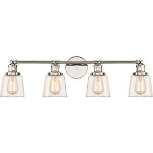 Union Polished Nickel 32-Inch Four-Light Bath Light