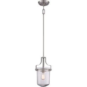Uptown Penn Station Brushed Nickel One Light Mini Pendant