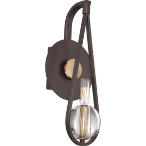 Uptown Seaport Western Bronze One Light Wall Sconce