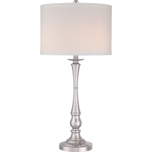 Vivid Ambrose Brushed Nickel Three-Light Table Lamp