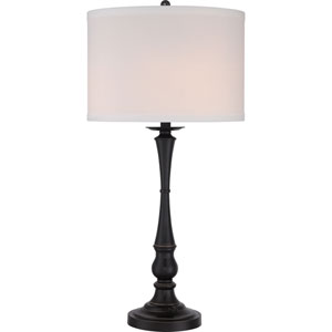 Vivid Ambrose Palladian Bronze Three-Light Table Lamp