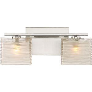 Westcap Brushed Nickel 15-Inch Two-Light Bath Light
