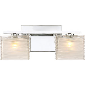 Westcap Polished Chrome 15-Inch Two-Light Bath Light