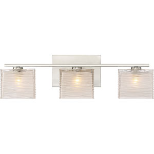 Westcap Brushed Nickel 23-Inch Three-Light Bath Light