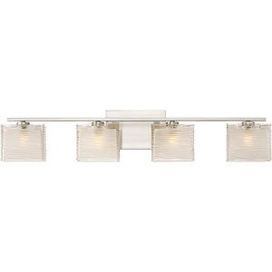 Westcap Brushed Nickel 32-Inch Four-Light Bath Light
