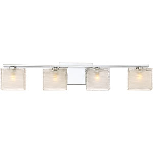 Westcap Polished Chrome 32-Inch Four-Light Bath Light