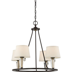 Warden Western Bronze 27-Inch Four-Light Chandelier
