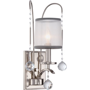 Whitney Imperial Silver One-Light Wall Sconce
