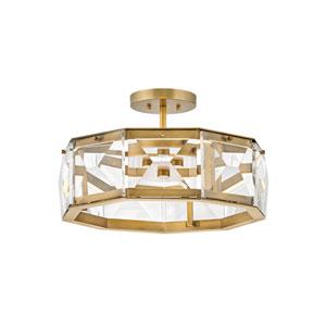 Jolie Heritage Brass LED Semi-Flush Mount