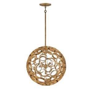 Centric Burnished Gold Four-Light Medium Globe Pendant