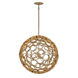 Centric Burnished Gold Six-Light Large Globe Pendant
