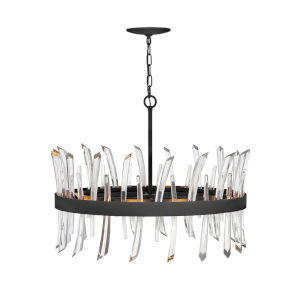 Revel Black Eight-Light Chandelier