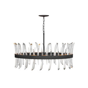 Revel Black 10-Light Chandelier