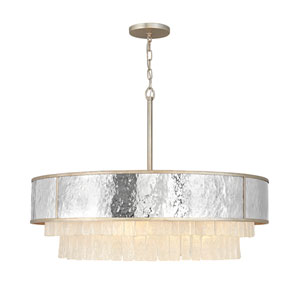 Reverie Champagne Gold 36-Inch Eight-Light Chandelier
