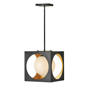 Vega Anvil Black One-Light Pendant