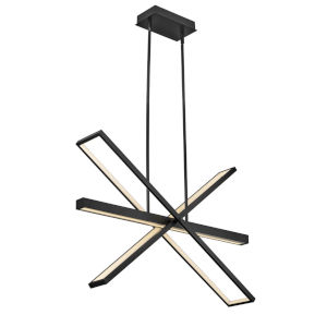 Tangent Black 36-Inch LED Chandelier