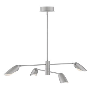 Bowery Brushed Nickel Four-Light LED Title 24 Chandelier
