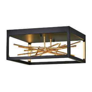 Styx Black 18-Inch LED Flush Mount