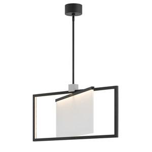 Folio Black LED Single Tier Chandelier