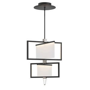 Folio Black LED Two Tier Chandelier