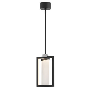 Folio Black LED Pendant