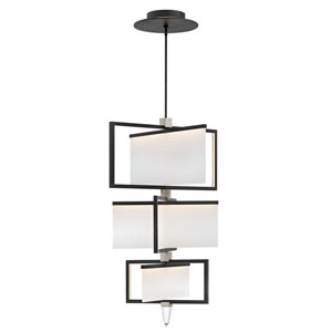 Folio Black LED Three Tier Chandelier