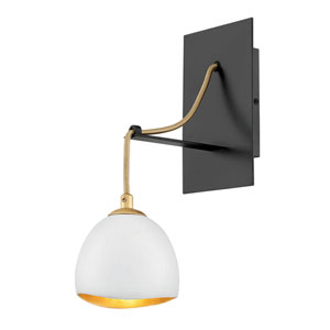 Nula Shell White One-Light Wall Sconce