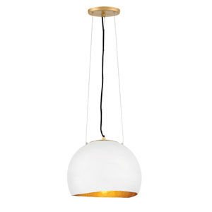 Nula Shell White One-Light Single Tier Pendant